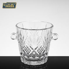 Crystal glass beer wine wine bucket household ice pail champagne cooler wine creative large transparent ice bucket