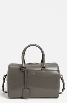 Saint Laurent 'Medium Duffle 6' Leather Satchel available at #Nordstrom