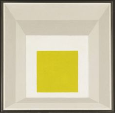 """Josef Albers, """"Study for Homage to the Square in Stucco"""""""