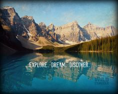 Explore Dream Discover Mark Twain Mountain Art by WildTravels