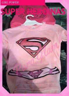 Remera traje disfraz super girl super chica para Nena Pink girl Glam girl puro Glam kids