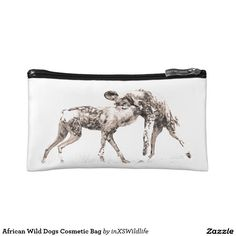 African Wild Dogs Cosmetic Bag