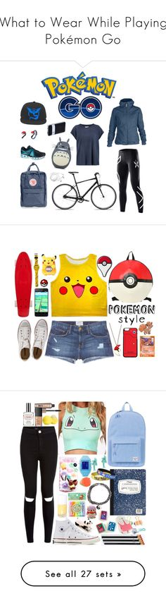"""What to Wear While Playing Pokémon Go"" by polyvore-editorial ❤ liked on Polyvore featuring WhatToWear, PokemonGO, 2XU, NIKE, Current/Elliott, Fjällräven, Tumi, Converse, outfit and ootd"