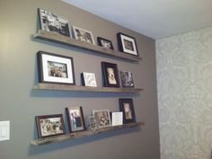 could do picture shelves with snaps of band members/stage shots/family events