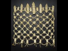 Tibetan Apron of human bone. 18th-19th century. Acquired by Major William John Ottley. A.1905.352