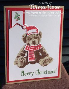 TeresasStampinSpot.com    Stampin Up; Baby Bear and Snow Place stamp sets