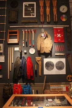 Fabulous pegboard wall display (Best Made Co. , NYC). #retail #merchandising #wall #display #fashion #pegboard