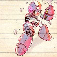 The Fighting Robot, Mega Man Cry Anime, Manga Anime, Anime Art, Character Concept, Character Art, Character Design, Character Ideas, Mega Man, Guy Drawing