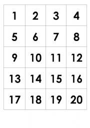Universal image pertaining to printable number chart 1 20