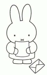 Miffy Read The Letter Elsa Beskow, Bunny Drawing, Patch Aplique, Miffy, Coloring Book Pages, Mail Art, Painting For Kids, Digital Stamps, Quilt Blocks