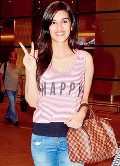 Kriti Sanon spotted at Mumbai airport. #Bollywood #Fashion #Style #Beauty