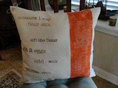 DIY Kitchen pillows