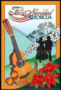 Navidad en Puerto Rico (Puerto Rican Christmas) is a postcard that me and my friends from college decided to make. Christmas In Puerto Rico, Puerto Rico Pictures, Puerto Rico Food, Puerto Rico History, Caribbean Art, Door Murals, Puerto Rican Recipes, Christmas Drawing, Puerto Ricans