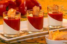 Panna cotta de chèvre et poivron rouge