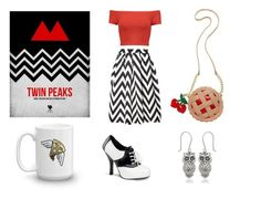 """Twin Peaks Fashion"" by lootcrate on Polyvore featuring Dorothy Perkins, Betsey Johnson, Alice + Olivia and Funtasma"