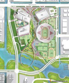Проект Индустриального Парка Спортивного Центра Суджоу от NBBJ - планировка