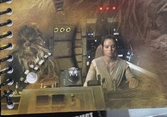 Rey & Chewbacca in Millenium Falcon
