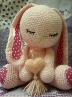 Mesmerizing Crochet an Amigurumi Rabbit Ideas. Lovely Crochet an Amigurumi Rabbit Ideas. Easter Crochet, Crochet Bunny, Cute Crochet, Crochet Crafts, Crochet Dolls, Crochet Projects, Amigurumi Patterns, Amigurumi Doll, Crochet Motifs