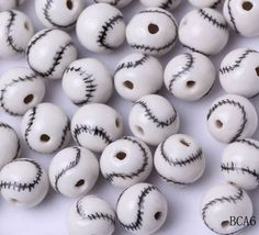 10mm Porcelain Charms Softball Jewelry Necklaces Making Findings Beads http://www.eozy.com/10mm-porcelain-charms-softball-jewelry-necklaces-making-findings-beads