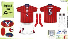 England away kit for the 1998 World Cup Finals.