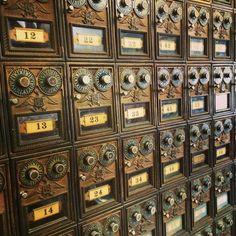 vintagebinger:  Traditional post office boxes still in use in Fultonville, New York.