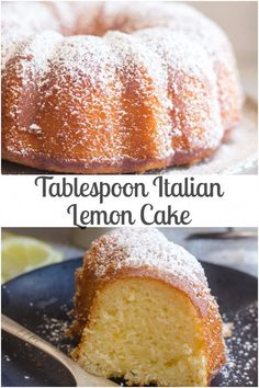 breakfast cake Italian Lemon Cake a delicious moist Cake, and all you need is a tablespoon for measurement. The perfect Breakfast, Snack or Dessert Cake Recipe. Dessert Cake Recipes, Lemon Desserts, Köstliche Desserts, Delicious Desserts, Sweets Recipe, Lemon Cakes, Italian Desserts, Breakfast Hotel, Breakfast Cake