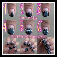 bat nails for Halloween!