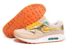 finest selection e26f6 a6d36 Nike Air Max 1 87 Womens Running Shoes Gold, Price   89.00 - Jordan Shoes -  Michael Jordan Shoes - Air Jordans - Jordans Shoes