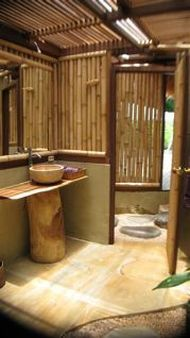 Bamboo asian bathroom architecture design