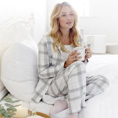 Check Flannel Pyjama Shirt - Pink Check | The White Company