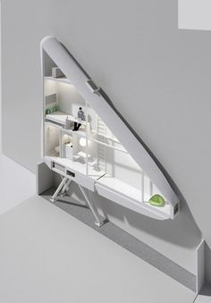Thin House: Polish Architect Jakub Szczesny designed a house/studio for Etgar Keret, a writer from Israel which may be the narrowest house in the world.