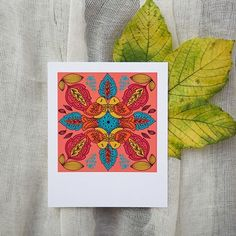 Polaroid format set of paper greetings cards, each in small craft envelope