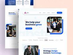 Digital marketing agency landing page by Arifur Rahman Tushar ➔ for Orizon: UI/UX Design Agency on Dribbble Digital Marketing Logo, Digital Marketing Plan Template, Marketing Poster, Web Design, Design Social, Website Design Layout, Web Layout, Layout Design, Agency Logo