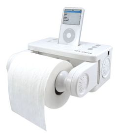 Enjoy your iPod while sitting on the toilet