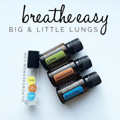 This doTERRA essential oil blend smells incredible, and is so effective at opening airways for both adult and little lungs!  For adults: 3-5 drops each in a 10 ml roller, topped with FCO.  For infants: 1 drops each, topped with FCO.  For children: 2 drops each, topped with FCO.  Also amazing in the diffuser! 2-3 drops each. Enjoy! http://oilpoweredmom.com/essential-oils-for-beginners…