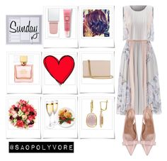 Sunday (12/6/2016) by saopolyvore on Polyvore featuring ファッション, BCBGMAXAZRIA, RED Valentino, Diane Von Furstenberg, Lancôme, Kate Spade, Givenchy and Polaroid