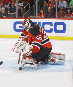 NEWARK, NJ - OCTOBER 18: Cory Schneider #35 of the New Jersey Devils makes a stick save against the Anaheim Ducks during the game at Prudential Center on October 18, 2016 in Newark, New Jersey. (Photo by Andy Marlin/NHLI via Getty Images)