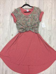 Lularoe Carly Dress and Classic Tee Combo! So cute <3