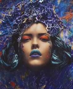 make-up-is-an-art: Art Hearts Beauty, Photos: Nana Simelius, Style + background canvas: Heidi Marika Urpalainen, Make-Up  Hair: Saara Sarvas