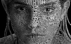 This picture shows typography that selecting type in various graphic designs to obtain particular effects on the women's face. http://www.commarts.com/columns/how-explain-typography typography - Google Search