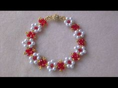 PULSERA PERLAS Y RONDELLES - PEARLS AND RONDELLES BRACELET. - YouTube