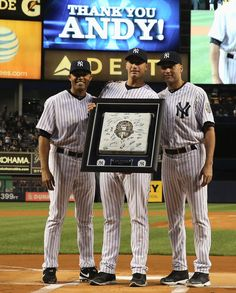 The Three Best Players for the Yankees in the last ten years . Major League Baseball Teams, Mlb Teams, Sports Teams, Yankees Fan, New York Yankees Baseball, Basketball Leagues, Buy Basketball, Yankee Stadium, Dune