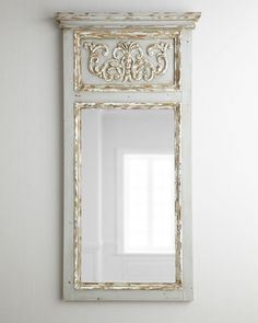 Antiqued Trumeau Mirror