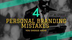 Most people are in a love-hate relationship with personal branding. We're going to be looking at the top 4 personal branding mistakes and how to avoid them.