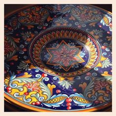 #sberna #art #pottery #ceramics #deruta #madeinitaly #love #handmade #handpainted #handcraft #colours #plate #colorful #drawing #blue #yellow #star