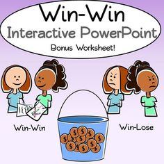 Do your students think that thinking win-win means no one should ever lose games, races, etc? Teach your students what thinking win-win REALLY means with this interactive PowerPoint. If you teach at a Leader In Me School, this goes along great with Habit 4: Think Win-Win, of Stephen Covey's 7 Habits of Happy Kids and is a great introduction.