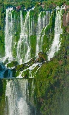 Waterfalls Love — Iguazu Falls, Brazil Waterfalls Love