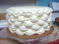 Tufted billow weave cake tutorial…amazing. thx to {thejoyof}cake.