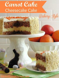 AMAZING Carrot Cake Cheesecake Cake -- so beautiful, and perfect for #Easter too.