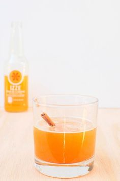 Spiced Clementine Margarita with Izze Soda. The orange soda is a great base for a new take on a traditional margarita recipe. The nutmeg and cinnamon makes this tequila cocktail transition from warm summer days to fall and back again.